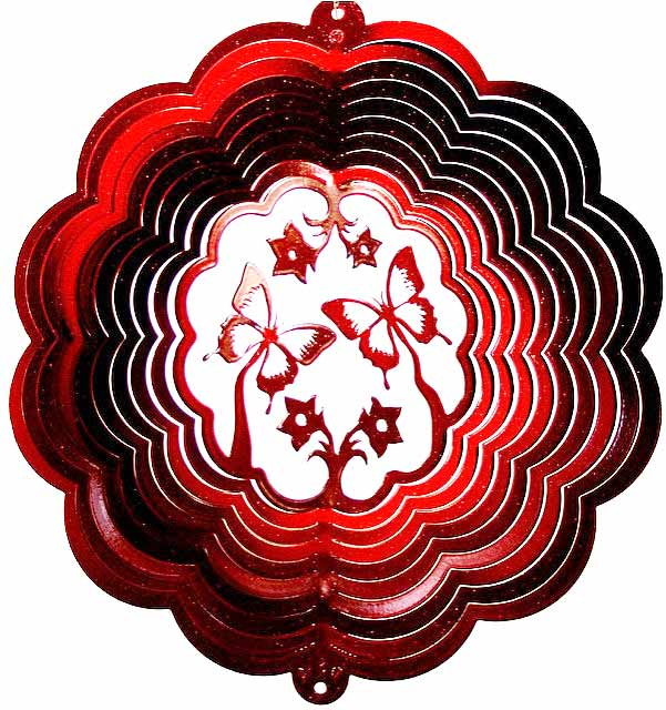 butterfly wind spinner - red