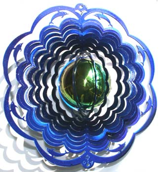 Dolpin gazing ball wind spinner