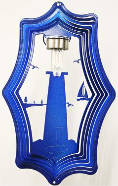 solar light lighthouse wind spinner