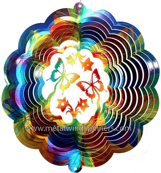 butterfly wind spinner - printed